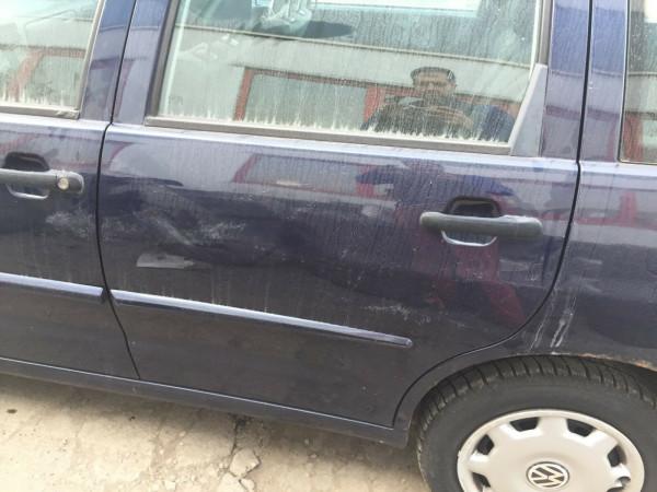 VW Polo 6K kombi Tür hinten links komplett in windsorblau LN5Y 1999 Baujahr
