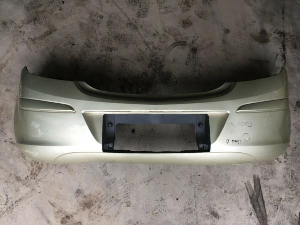 Stoßstange hinten mit 13179893 Opel Corsa D 3Türer in gold Fahrradträger Loch