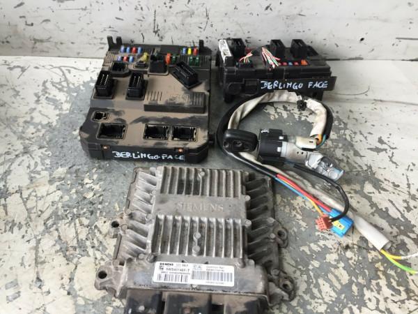 9647423380 9650618580 Steuergerät Set komplett Citroen Berlingo 2.0 HDI RHY