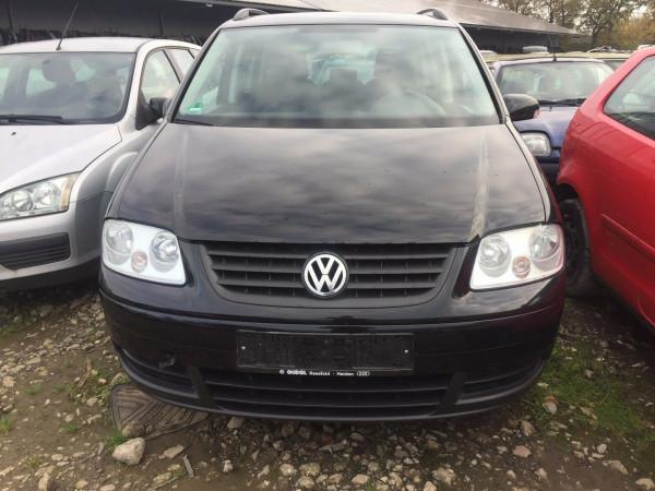 VW Touran 1T Tür vorne links komplett in LO41 schwarz 2005 Baujahr