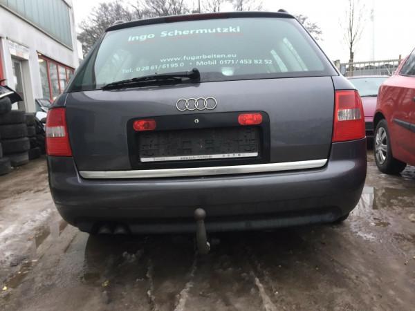 Audi A6 C5 Kombi Stoßstange hinten PDC komplett in Delphingrau LX7Z 2003Bj.