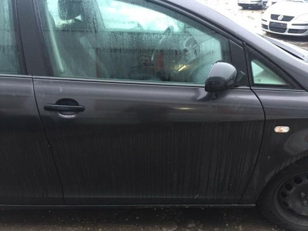 Seat Altea 5P Außenspiegel rechts elektrisch in schwarz Kunststoffschwarz
