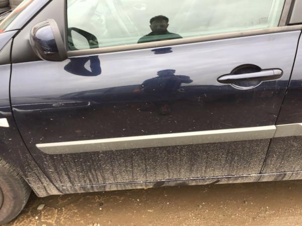 Renault Megane II kombi Facelift Tür vorne links in NV472 Crepuscule Perleffekt
