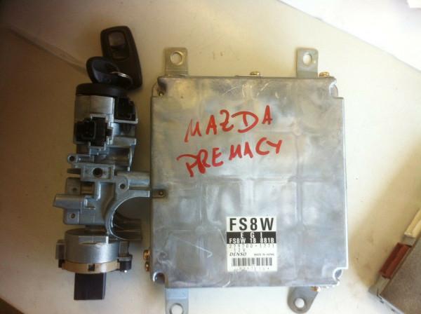 FS8W 279700-1771 Motor Steuergerät Set Mazda Premacy 2.0 16V Automatik 2004Bj.